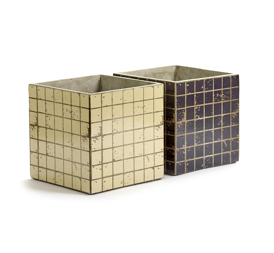 Vaso Marie Mosaico: vasi in cemento da esterno o da interno Serax