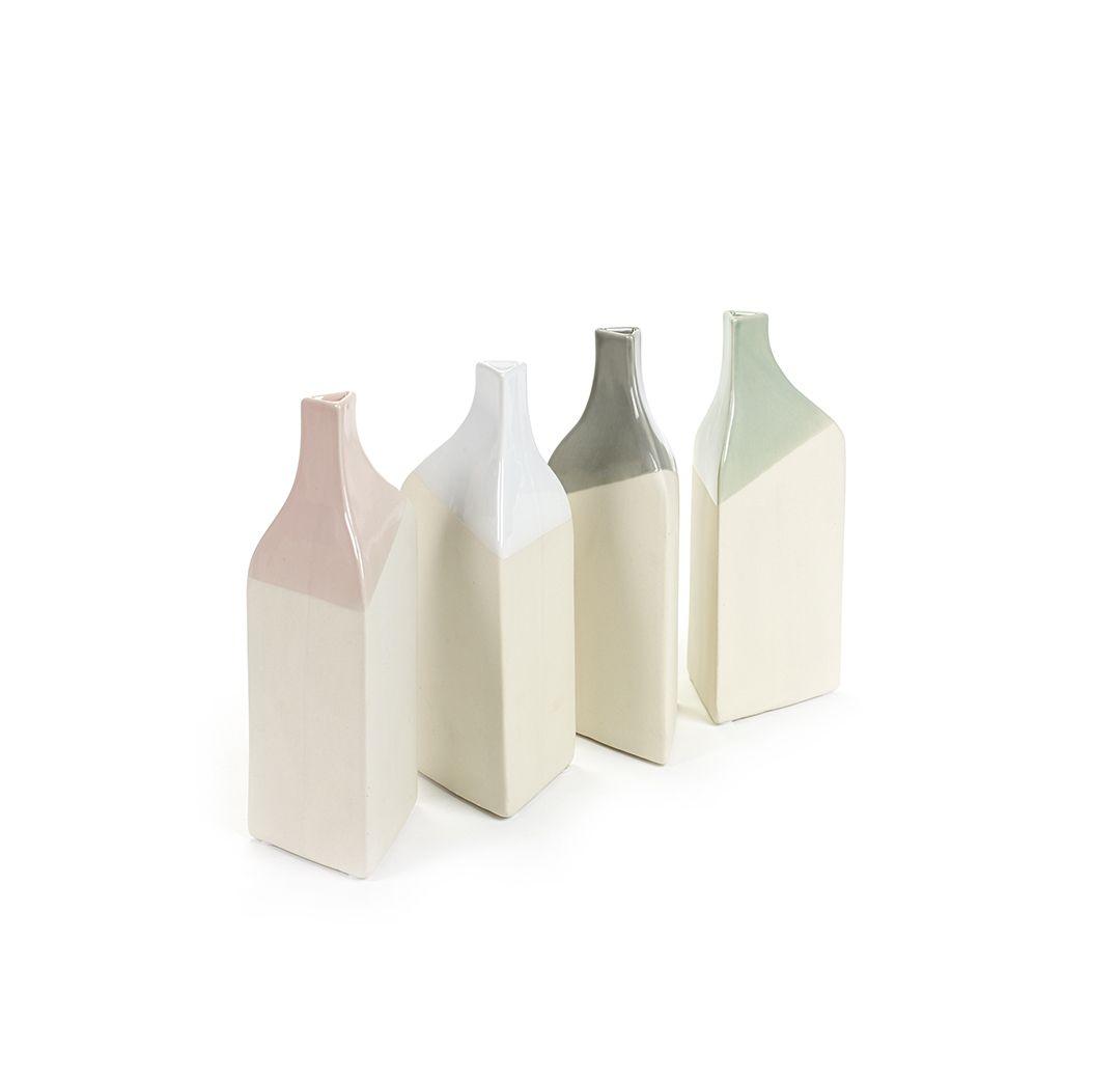 Vaso bottiglia colorato Triangolo S [vari]: vasi ceramica design Serax