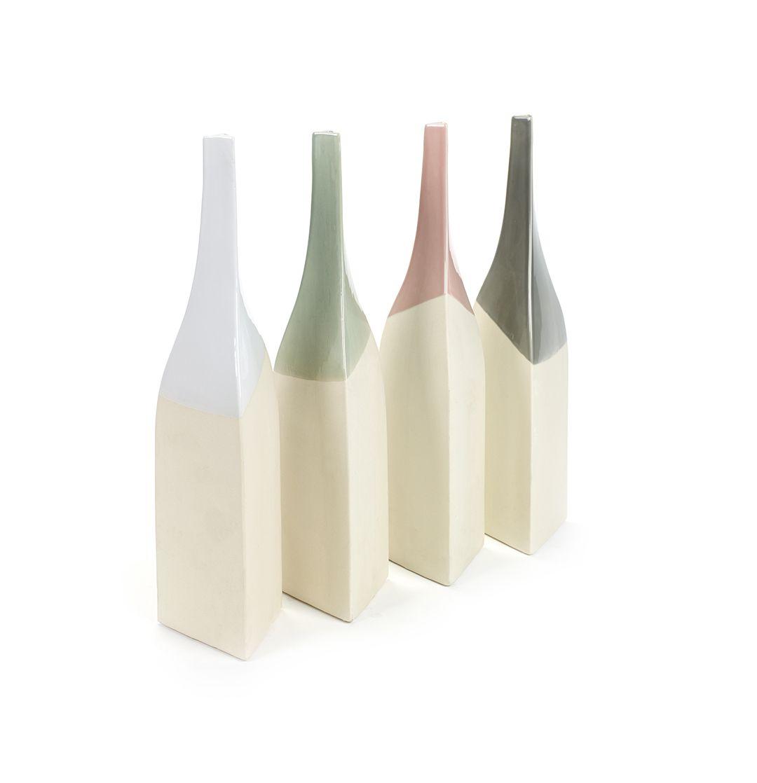 Vaso bottiglia colorato Triangolo L [vari]: vasi ceramica design Serax