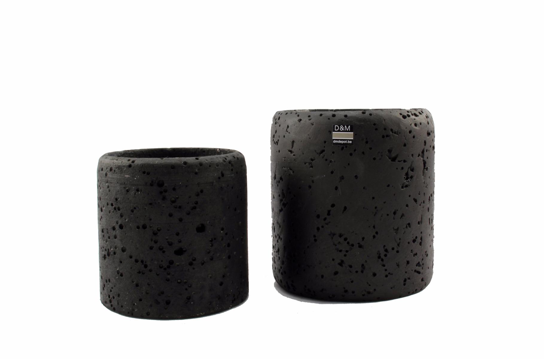Vaso nero Bell [vari]: particolari vasi per orchidee biodegradabili D&M
