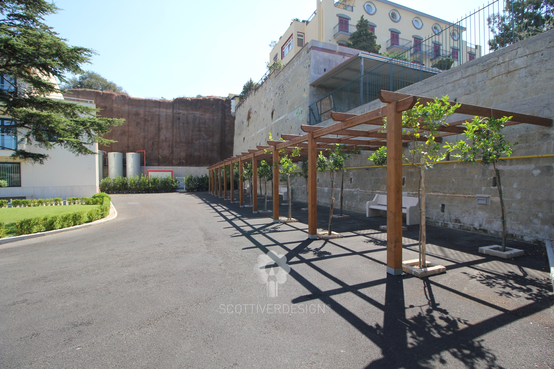 Riqualificazione giardino ex hotel solfatara - Gradoni giardino ...